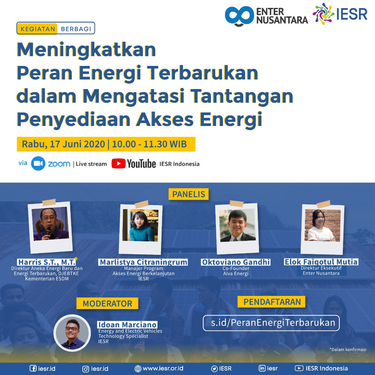 Panellist at IESR Discussion on Increasing the Role of Renewable Energy in Providing Electricity Access